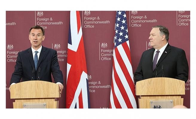 Bakan Pompeo, İngiliz dışişleri Bakanı Hunt ile bir araya geldi