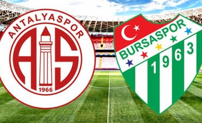Bursaspor, Antalya'da hayat buldu : 0 - 1