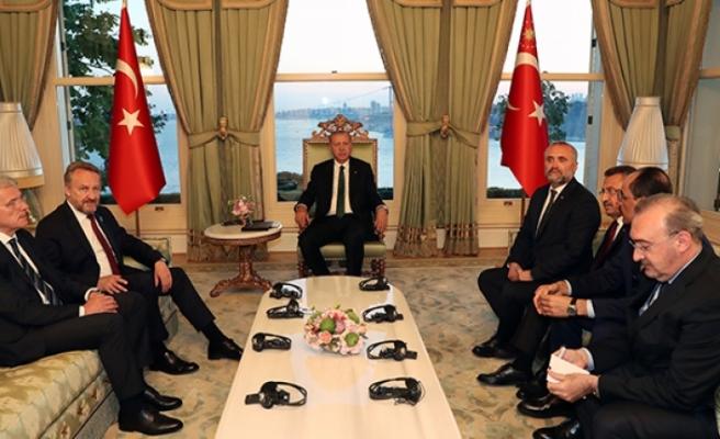 Erdoğan yabancı devlet başkanlarını ağırladı
