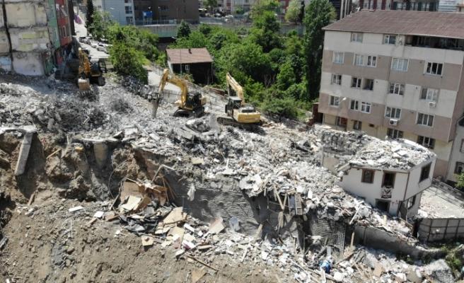 Kağıthane'deki yıkım devam ediyor