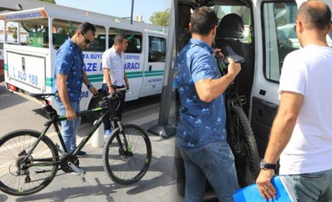 Bisikletiyle morga götürüldü!