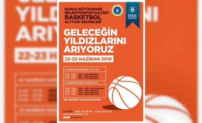 Bursa basketbol yıldızlarını arıyor