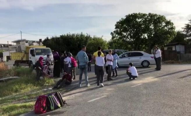 Öğrenci servisi kaza yaptı!