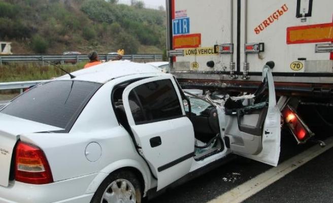 Düzce'de 12 araç birbirine girdi: 4 yaralı