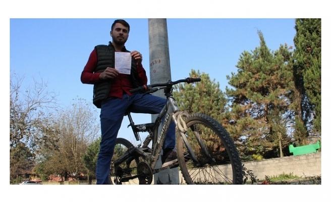 Bisiklet sürerken ellerini bıraktı, 235 TL ceza yedi