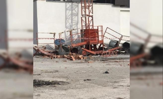 İnşaatta yük asansörü 11'inci kattan düştü: 1 ölü, 1 ağır yaralı