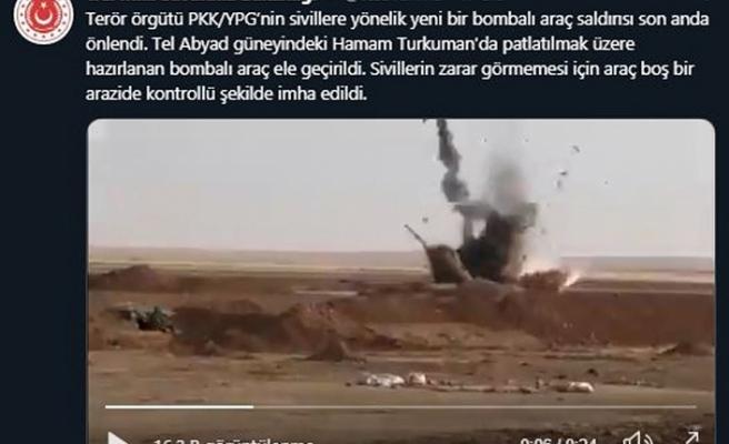 MSB: Tel Abyad'da terör saldırısı son anda önlendi