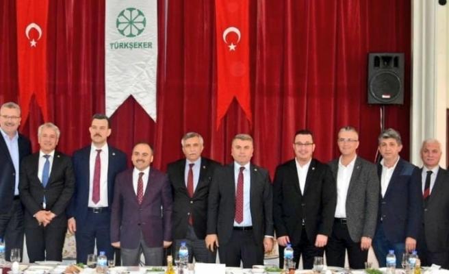 Türk Şeker Genel Müdürü Alkan'dan Başkan Kanar'a ziyaret