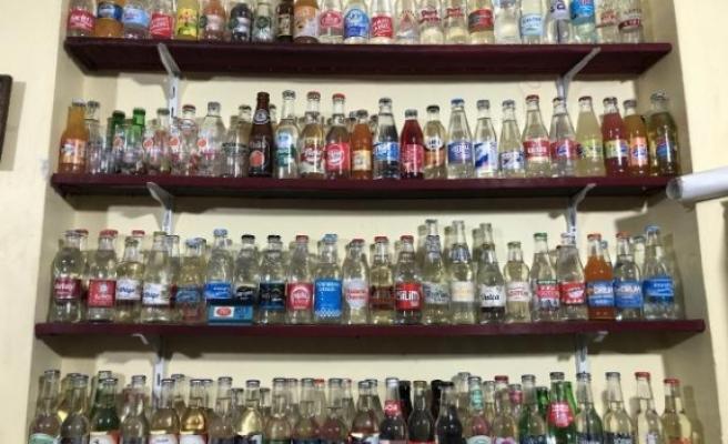 Bursa'da açılmamış gazoz koleksiyonu