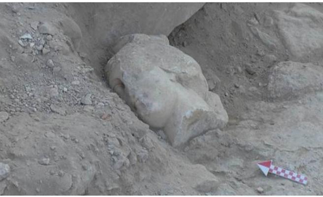 Denizli'de Roma İmparatoruna ait mermer baş bulundu