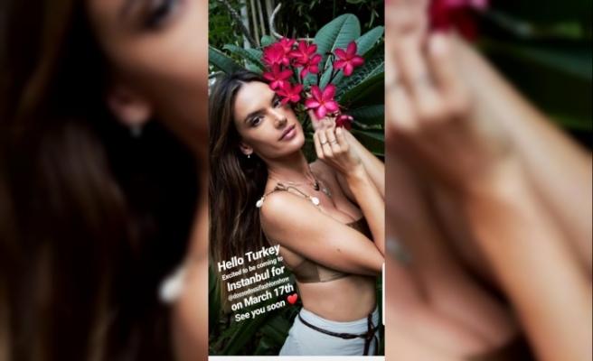 Ünlü model Alessandra Ambrosia, 17 Mart'ta İstanbul'da