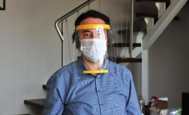 Bursa'da sağlıkçılara özel 'siper maske'