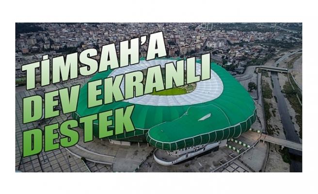 Bursaspor - Adana Demirspor maçı için dev ekran