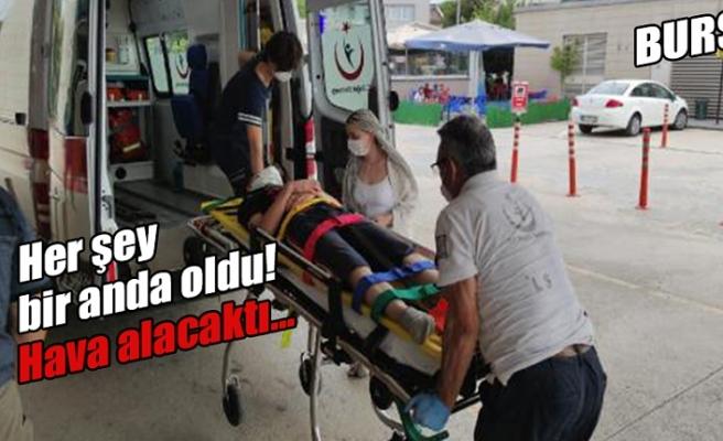 Hava almak için çıktığı balkondan düşüp, yaralandı