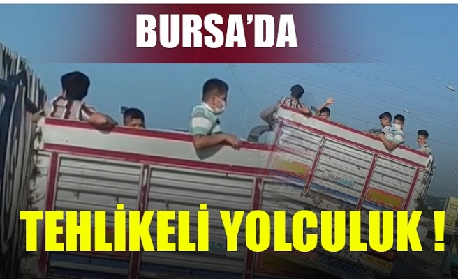 Bursa'da çocukların tehlikeli yolculuğu