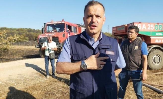 Bursa'da ormanlık alanda çıkan yangın tarım arazisine sıçradı (2)