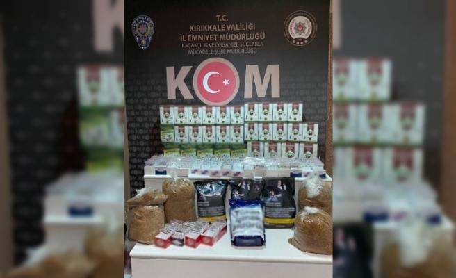 Kırıkkale'de kaçak tütün ve çay ele geçirildi