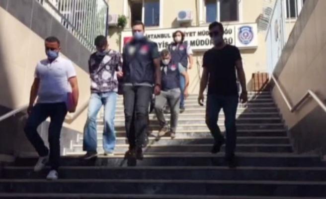 Market gaspçıları önce kameraya, ardından polise yakalandı