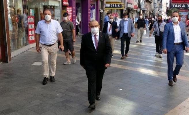 Trabzon'da Vali Ustaoğlu'ndan koronavirüs denetimi