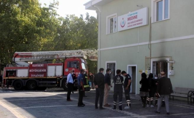 Aile sağlığı Merkezi'ndeki yangın büyümeden söndürüldü