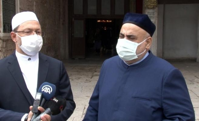 Azerbaycan Şeyhülislamı Ayasoyfa'yı ziyaret etti
