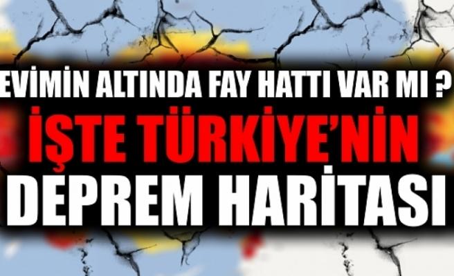 Evimin altından fay hattı geçiyor mu? AFAD Türkiye deprem haritası