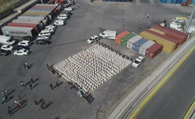 (Havadan fotoğraflarla) -  Ambarlıda dev uyuşturucu operasyonu
