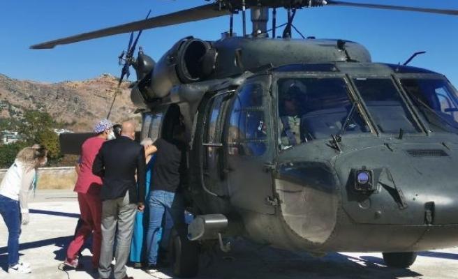 Kalp hastasına askeri helikopterle sevk
