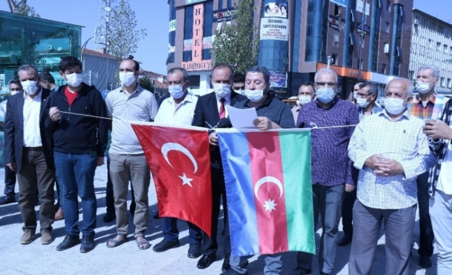 Kırşehir'de STK'lar Azerbaycan'a destek için bir araya geldi