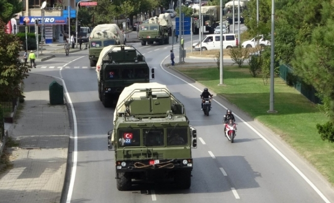 S-400'ler test atışlarını başarı ile tamamlayıp Ankara'ya gitmek için yola çıktı