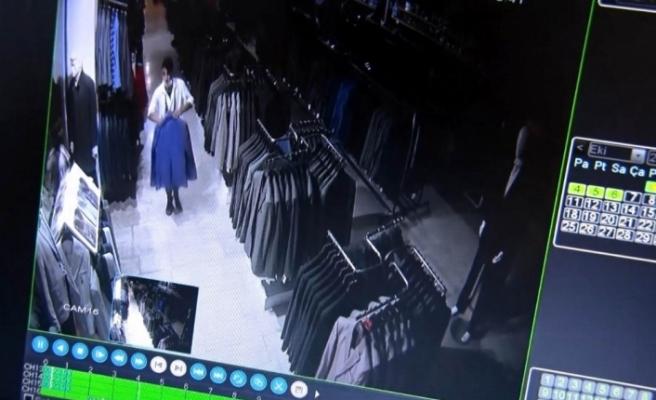 Takım elbise çaldıktan sonra otostop çektiği polise yakalanan hırsız 5 bin 500 TL'lik zarar vermiş