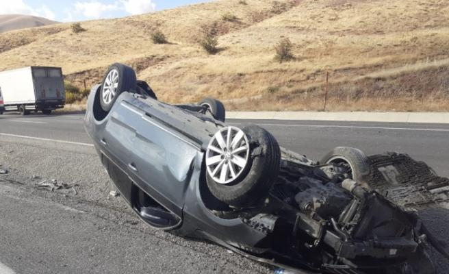 Tepebaşı mevkiinde trafik kazası