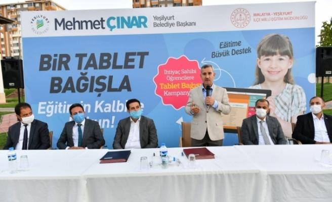 Yeşilyurt Belediyesinden tablet bağış kampanyasına destek