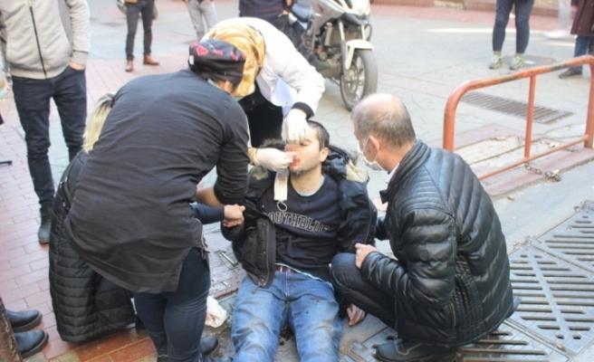 İzmit'te halk otobüsünün çarptığı genç yaralandı