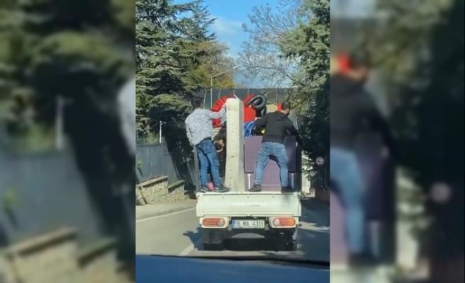 Kamyonet kasasında tehlikeli eşya taşıma