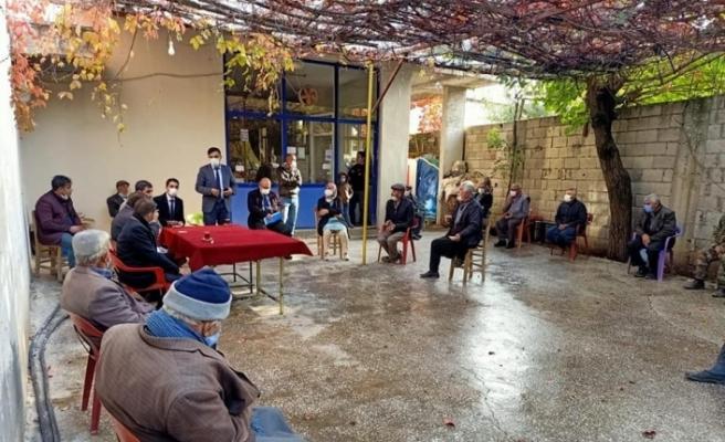 Kaymakam Tugay Yaylımlı köyünde halk toplantısı düzenledi