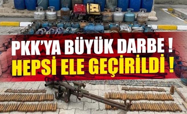 PKK'ya Hakkari'de büyük darbe! Hepsi ele geçirildi.
