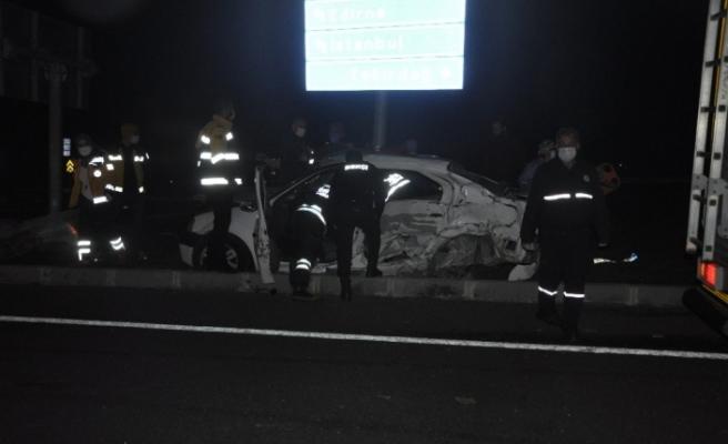 Tekirdağ'da pikap ile otomobil çarpıştı: 3 yaralı