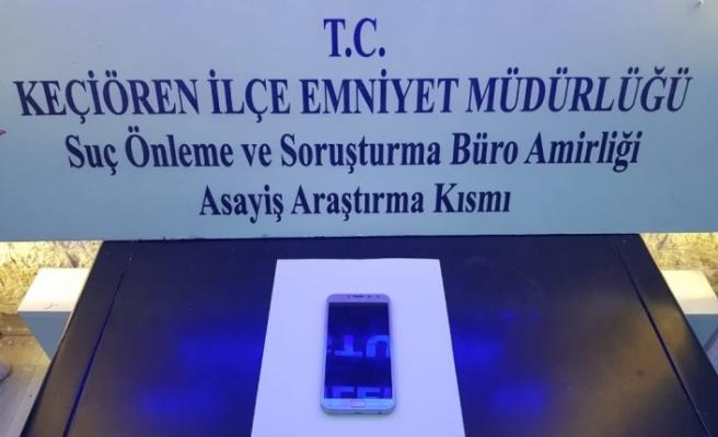 Ankara'da motosikletli kapkaç şüphelisi yakalandı