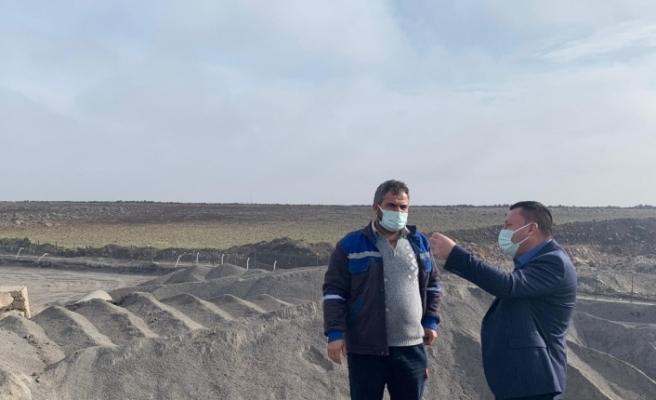 Başkan Beyoğlu Asfalt Plenti ve Taş Kırma Eleme Tesisinde incelemelerde bulundu