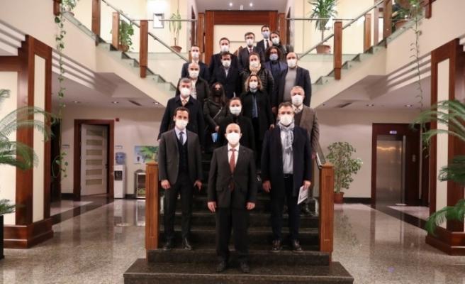 Düzbağ Projesi için Gaziantep'e gelen yazar ve medya mensupları HKÜ'yü ziyaret etti