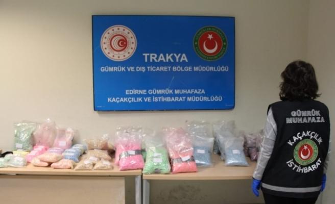 Gümrük Muhafaza ekipleri Kapıkule'de zehir yüklü uyuşturucu tırına geçit vermedi