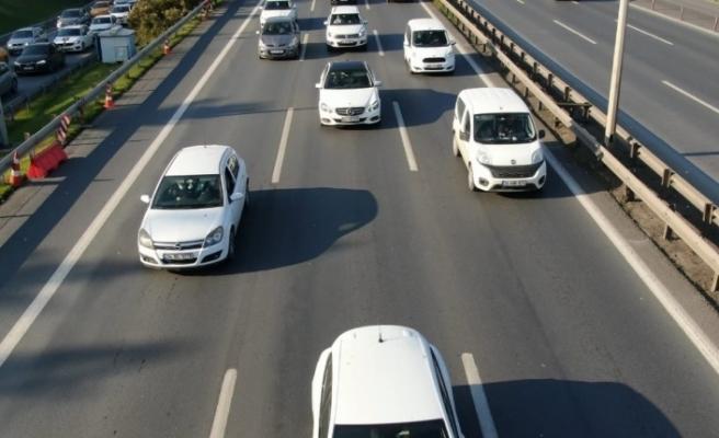 İstanbul trafiğinde drone'lu denetim: 96 sürücüye ceza kesildi