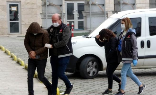 Samsun'da karı-koca uyuşturucu ticaretinden gözaltına alındı