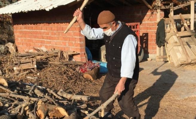 Sokağa çıkma kısıtlamasında çiftçiler faaliyetlerine devam etti