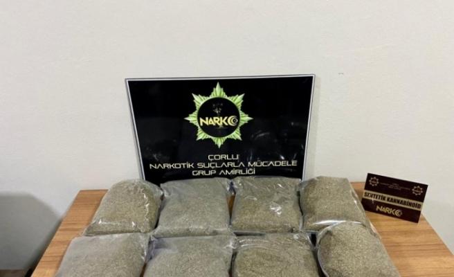 Tekirdağ'da araçtan poşet poşet bonzai çıktı: Tam 8 kilo
