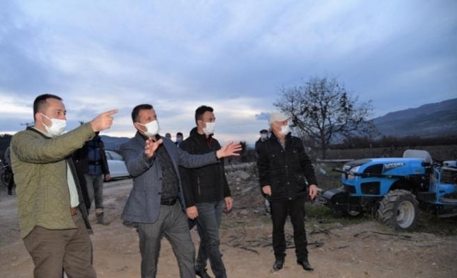 Vali Şentürk, HİS ile ''Mera ıslahı ve amenajmanı'' projesini yerinde inceledi