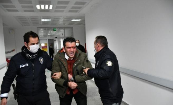 """""""Vatan, millet"""" dedi, polise ve görevine küfürler yağdırdı"""