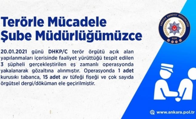 Başkent'te DHKP-C operasyonu: 3 gözaltı