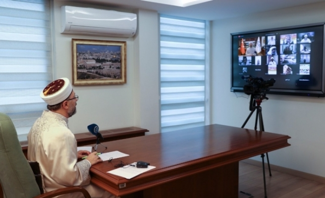 """Diyanet İşleri Başkanı Erbaş: """"Mescid-i Aksa'ya yapılan saldırıları ve hain planları bir kez daha şiddetle telin ediyorum"""""""